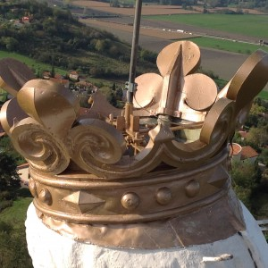 Détail de la couronne vue d'en haut